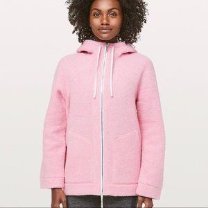Lululemon So Sherpa Hooded Jacket & Shopping Bag
